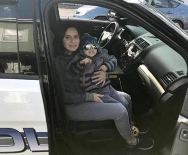 """We brought teddy bears, coloring books, whatever we could find around the station, anything that said 'police' on it,"" Officer Aristides Rodriguez said of the gifts for Edison."